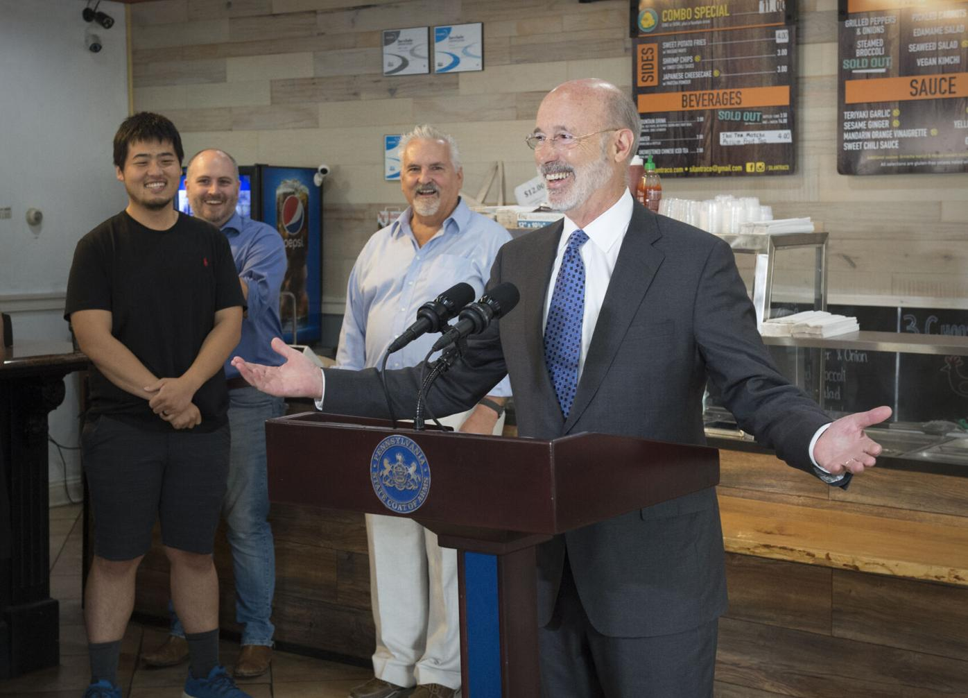 Gov. Wolf visits Silantra Wolf 1