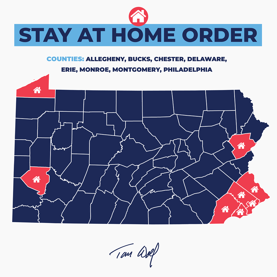 Pa. stay at home order stay-at-home 8 counties