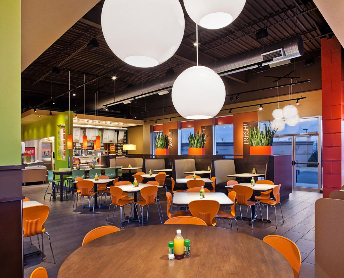 this is the interior of a zoes kitchen restaurant - Zoes Kitchen Locations
