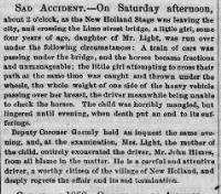 1860 Intelligencer story on the railroad bridge