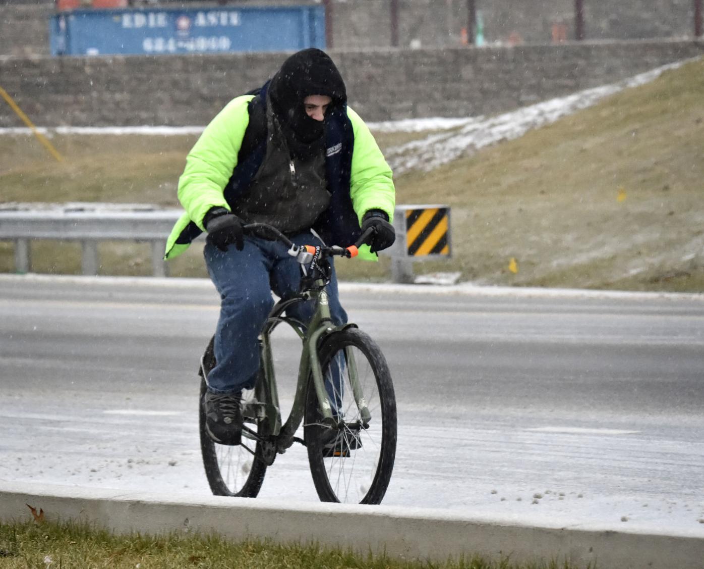 Bike in sleet 2.7.18