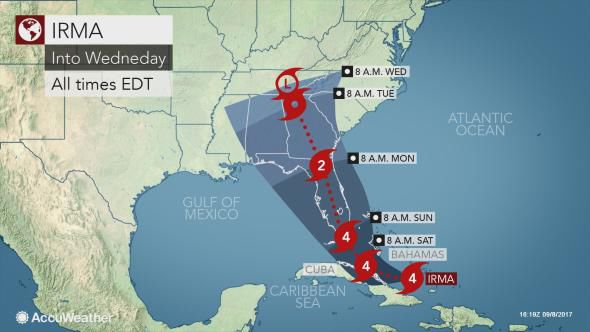 Temperatures to inch up… Irma's track becoming more clear this weekend