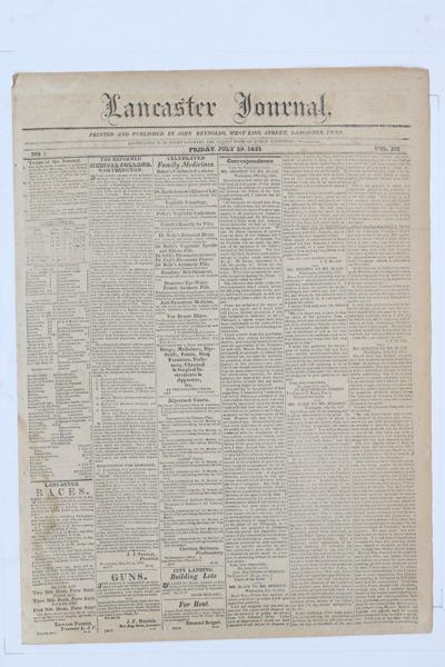 Front page - 1831