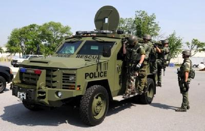 SERT's military-style armored vehicle is making appearances around county