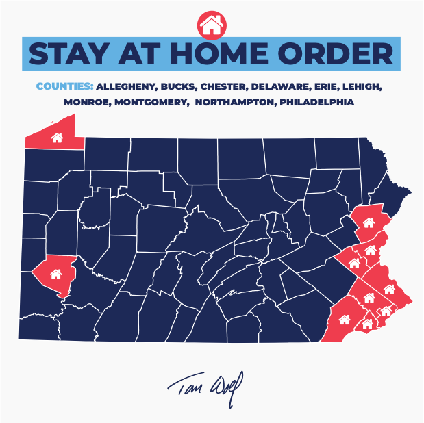 gov. tom wolf stay at home order 10 as of 03252020