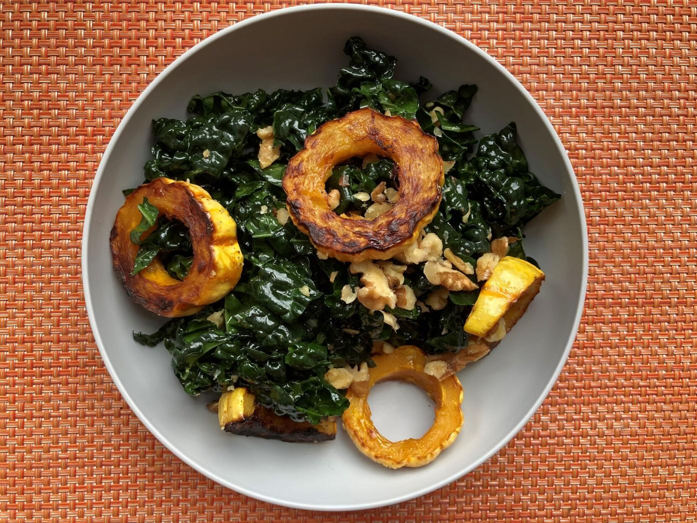 Delicata squash and kale