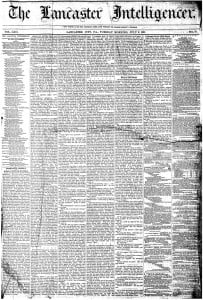 News from Lancaster, July 2-3, 1861