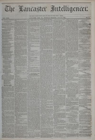 Front page - 1862