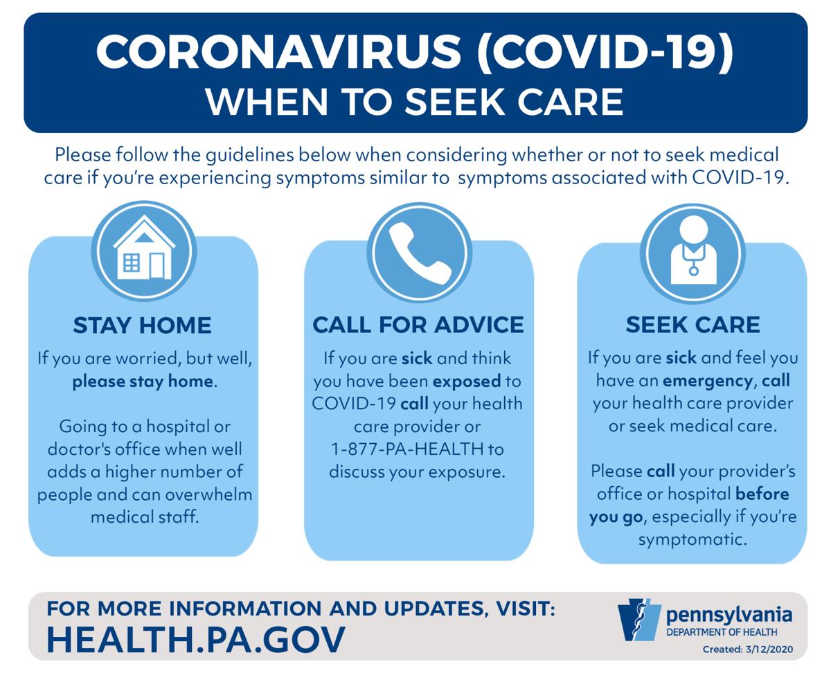 covid-19 when to seek care doh coronavirus