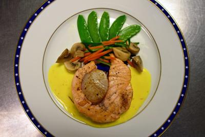 Here S How To Make Chef John Moeller S Osso Buco Of Salmon Scallops With Saffron Clam Broth Lancasteronline Com