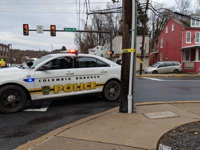 Columbia Borough police car