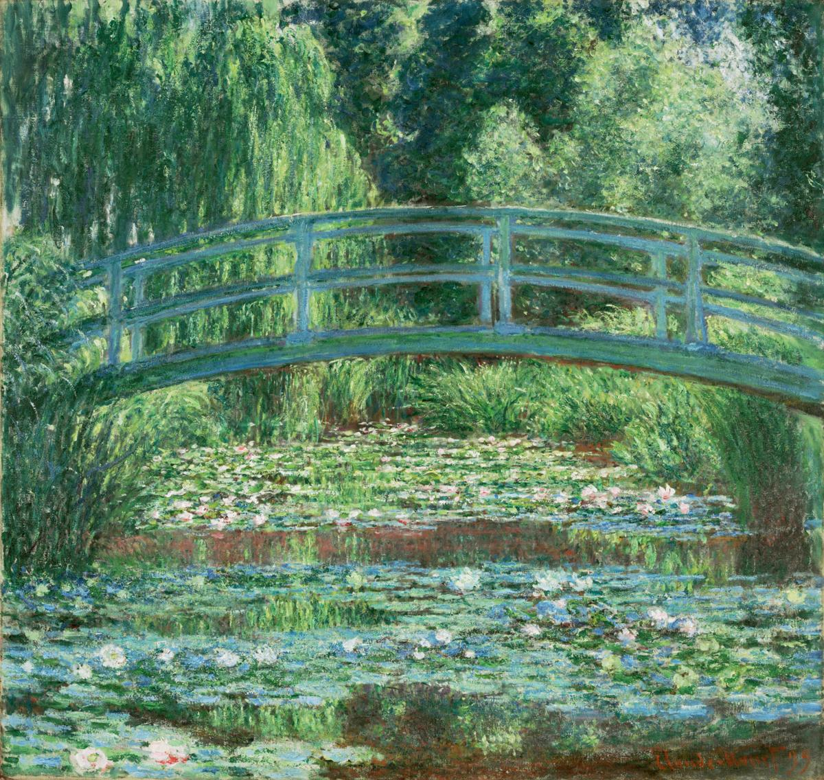 Claude Monet -- Japanese Footbridge and the Water Lily Pool, Giverny.jpg