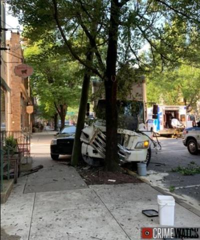 Downtown Lititz crash