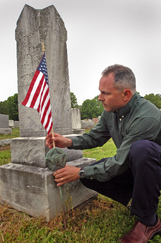 Michael DeBerdine assures flags wave in remembrance of vets