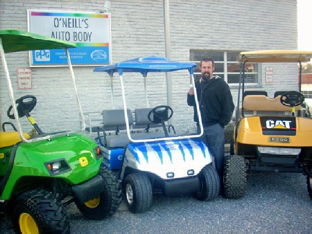 Custom Metal Flake Golf Cart on custom silver golf cart, custom car golf cart, custom red golf cart, custom black golf cart, custom body golf cart, custom paint golf cart, custom graphics golf cart,