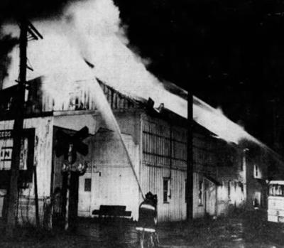 Eby's Mill fire 1970