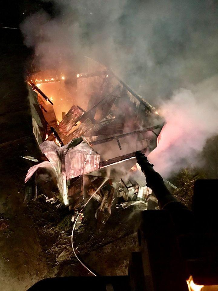 Eden Township hemp fire