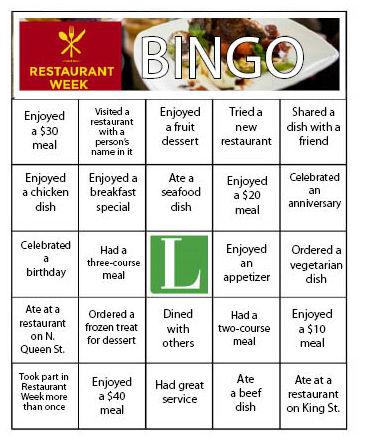 Bingo Restaurant Verdun Menu