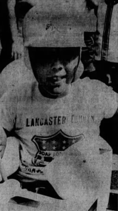 Greg Durbin soap box derby champ 1970