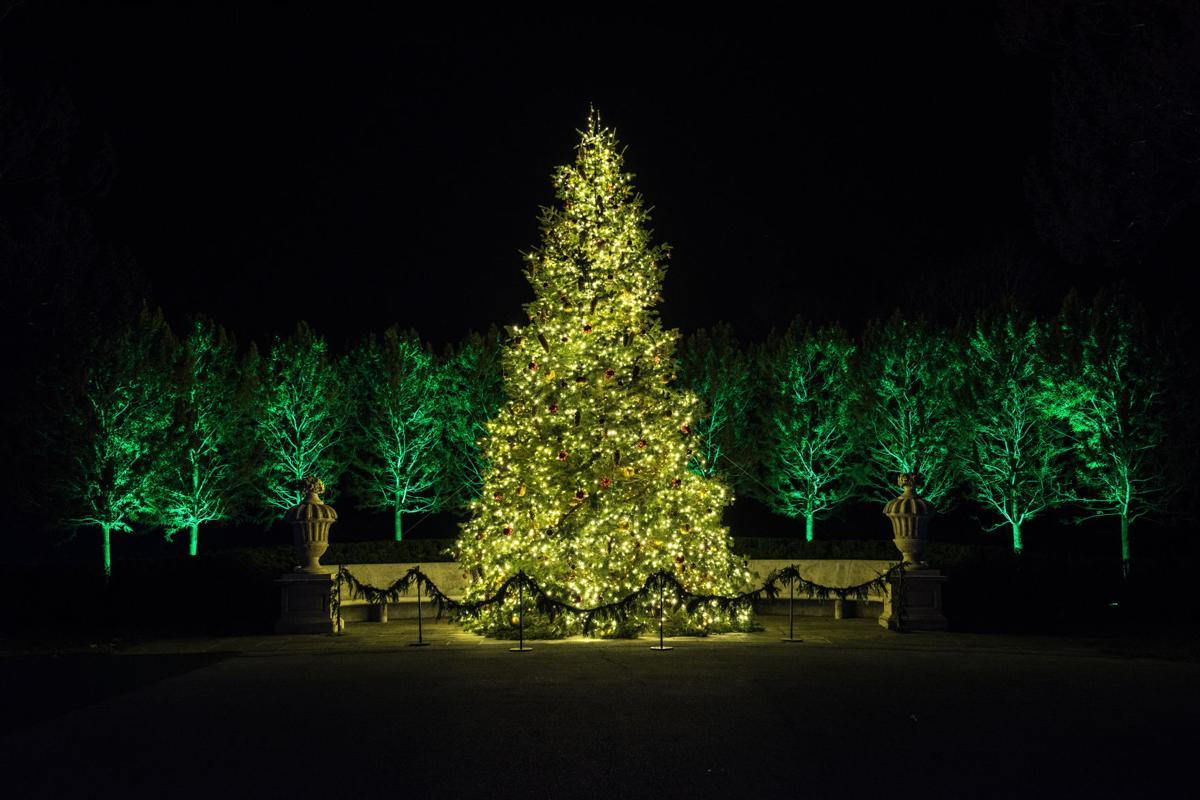 Longwood Gardens Christmas.French Inspired Holiday Decor Lights Up Longwood Gardens