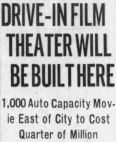 first drive-in headline