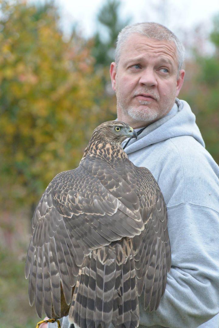 m15 art story Al Jordan with one of his hawks.jpg