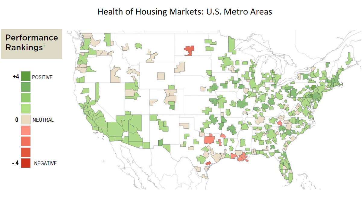 Health of Housing Markets - map