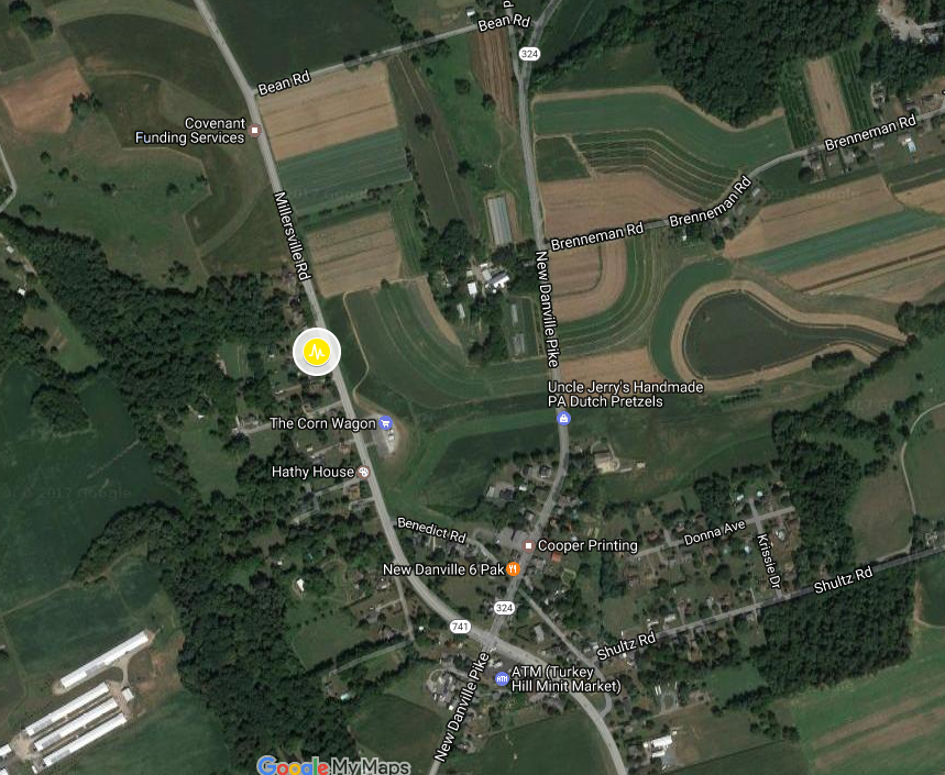 April 23, 2017 earthquake location