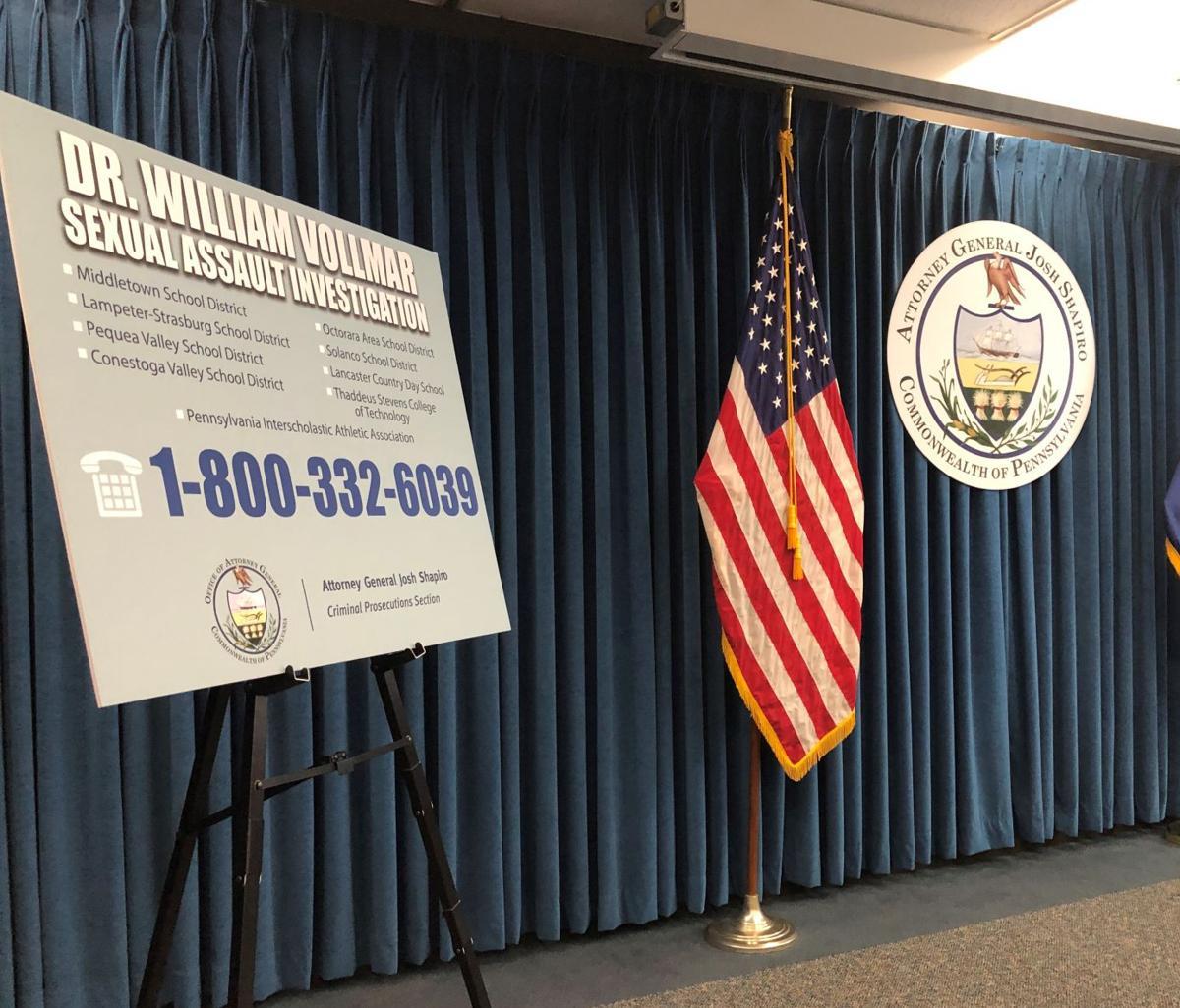 Attorney general hotline for Vollmar cases
