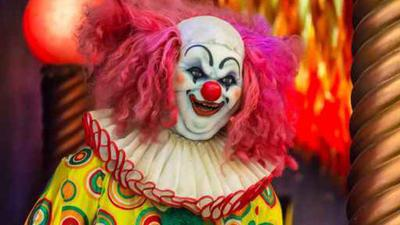 Evil Spooky Clown Smiling.