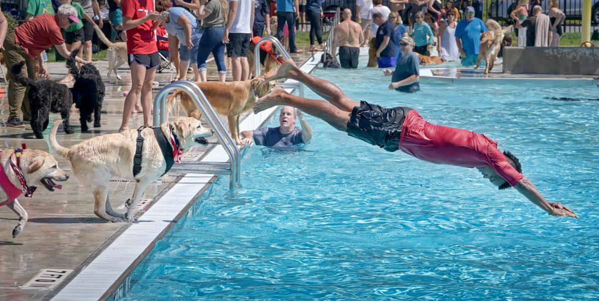 Ephrata residents take their dogs for a swim at the