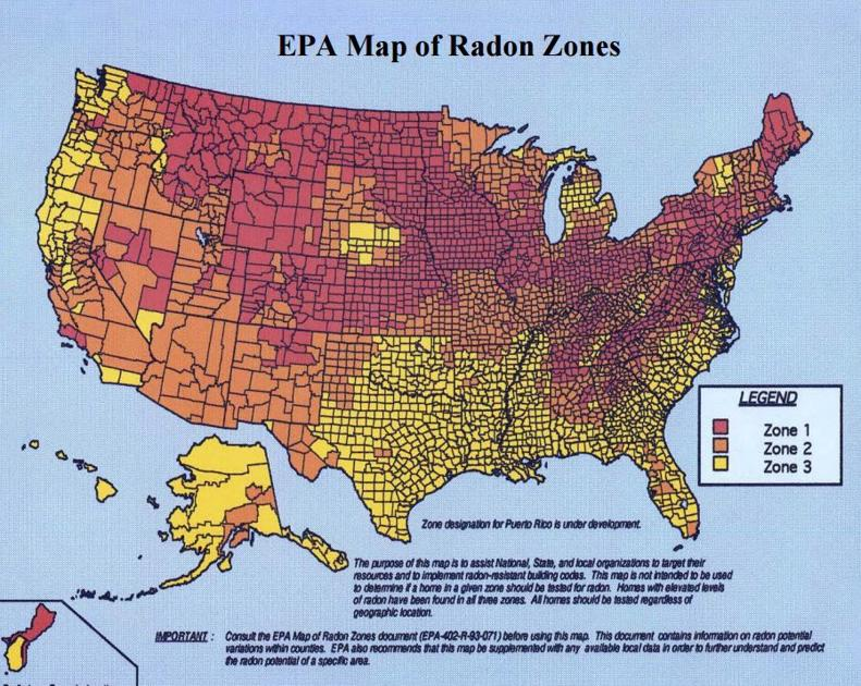 Radon levels in Lancaster County still among highest in Pennsylvania on radon levels, francium map of pa, highest radon in pa, air quality map of pa, radon test kit target, silver map of pa,