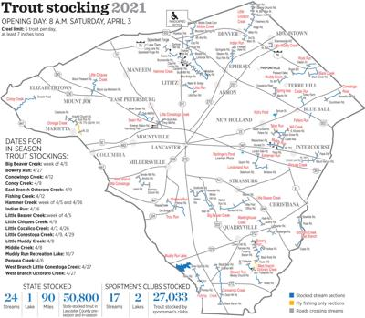 Lancaster County trout map