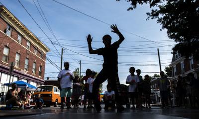 Break dancing in the city