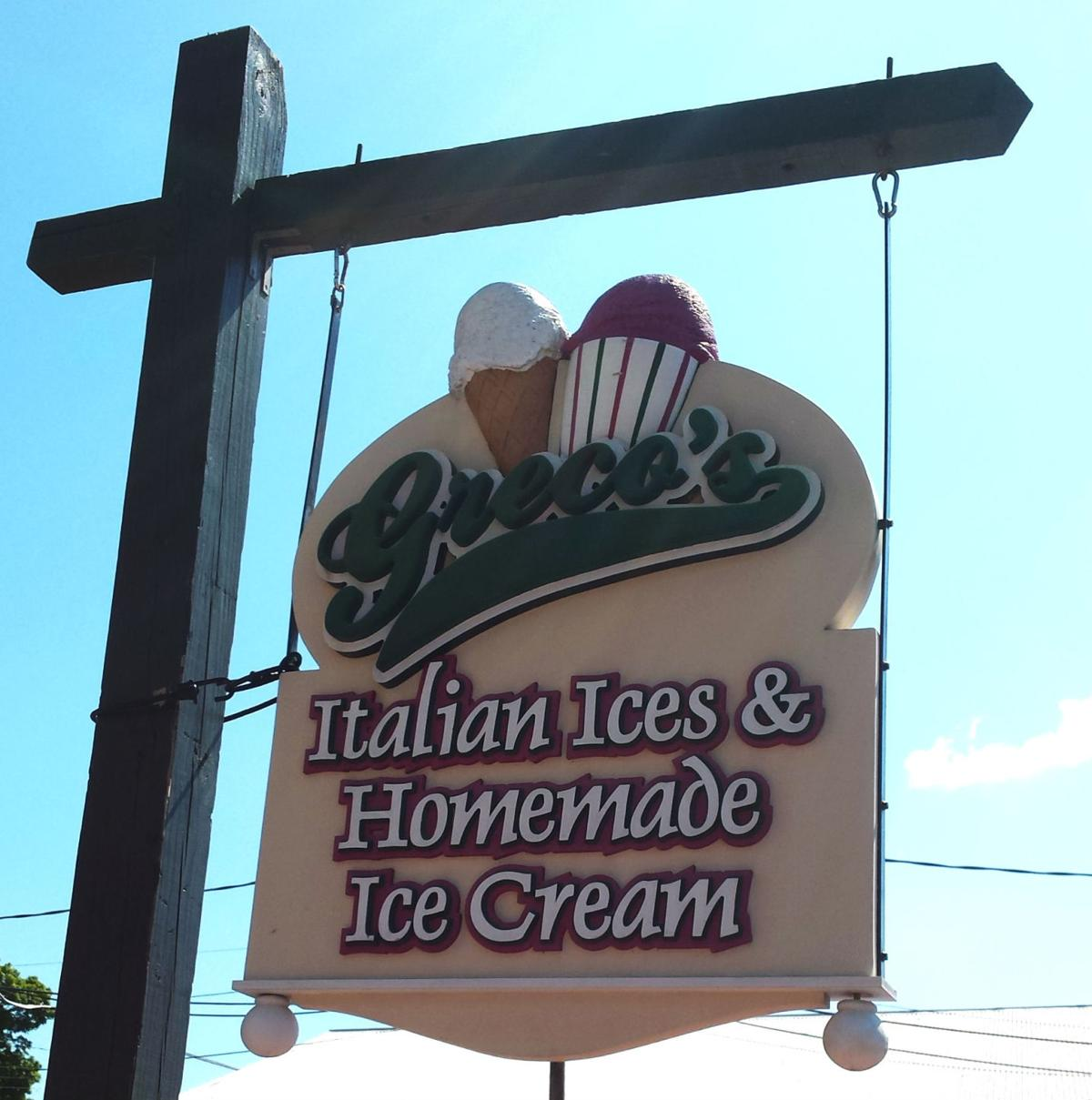 Greco's ice cream sign in Lititz (copy)