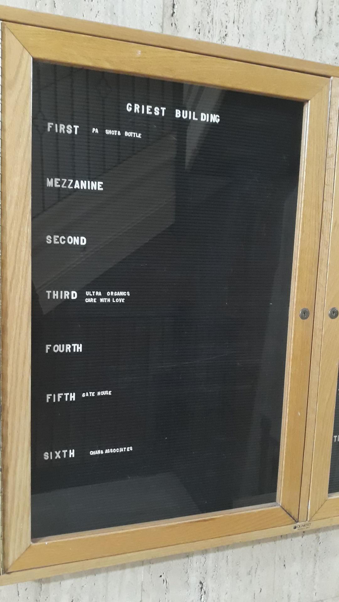 Griest Building plaque 1