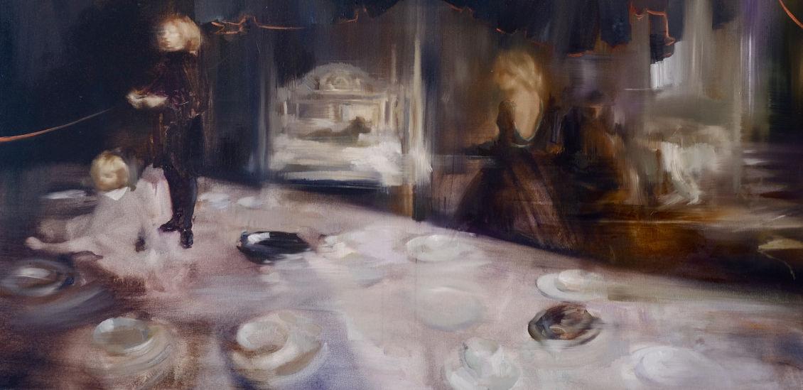 Sarah McRae Morton painting