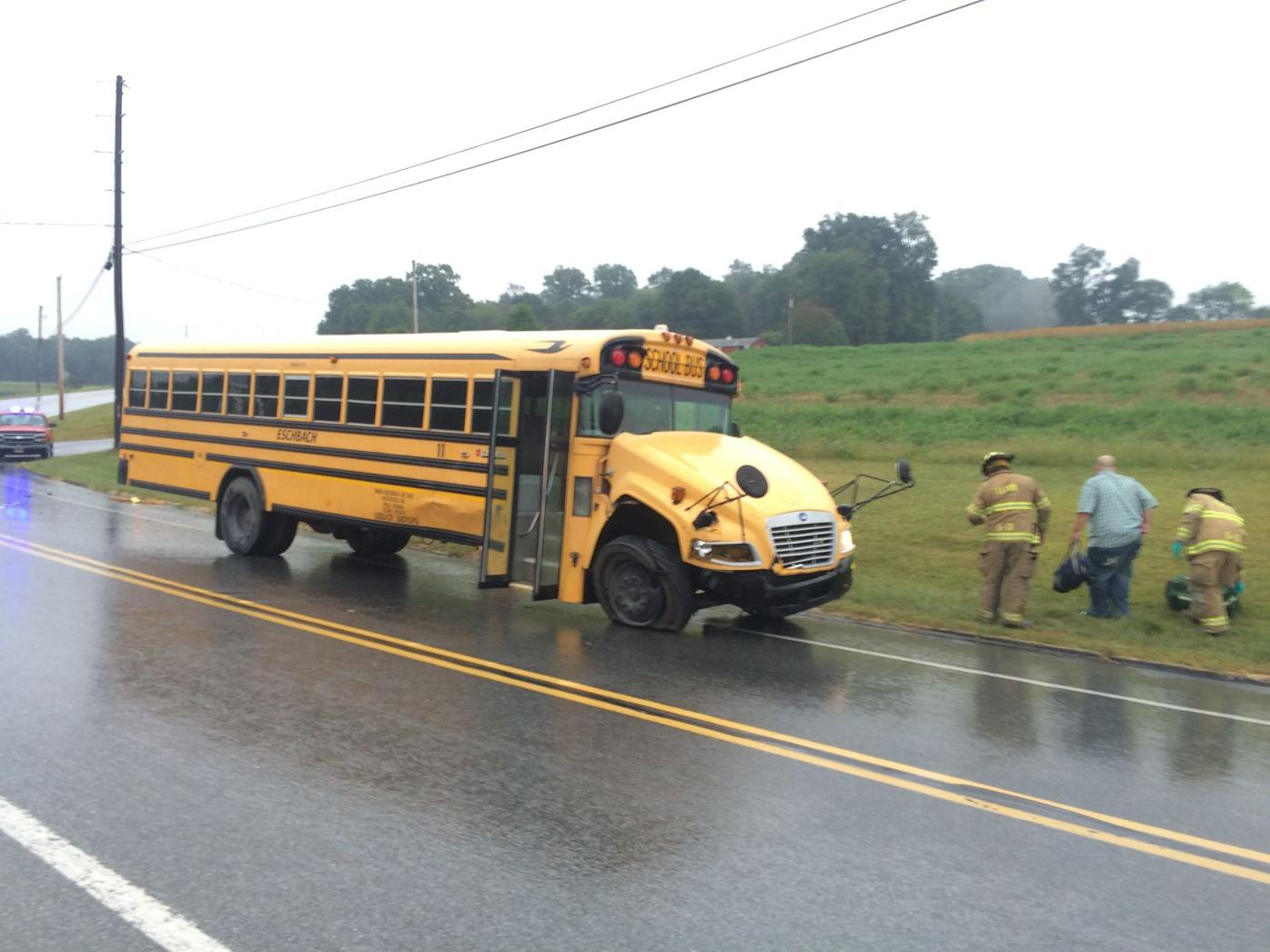 Bus vs. taxi cab in Fulton Township