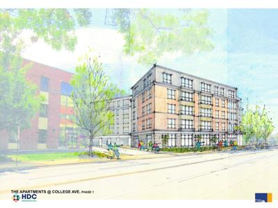 HDC rendering of 213 College Ave.
