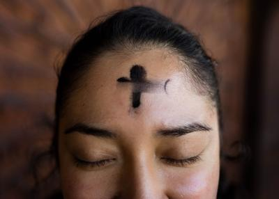 Ash Wednesday stock photo