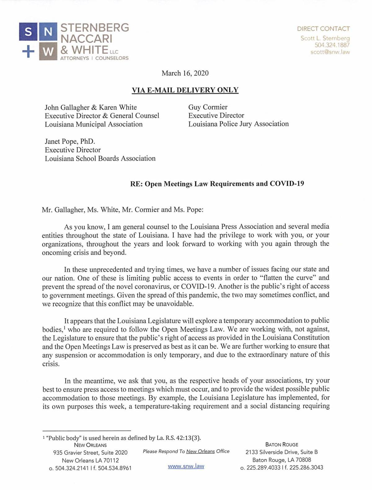 Letter to LMA Page1