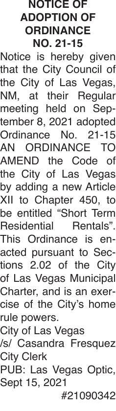 CLV Ordinance 2115