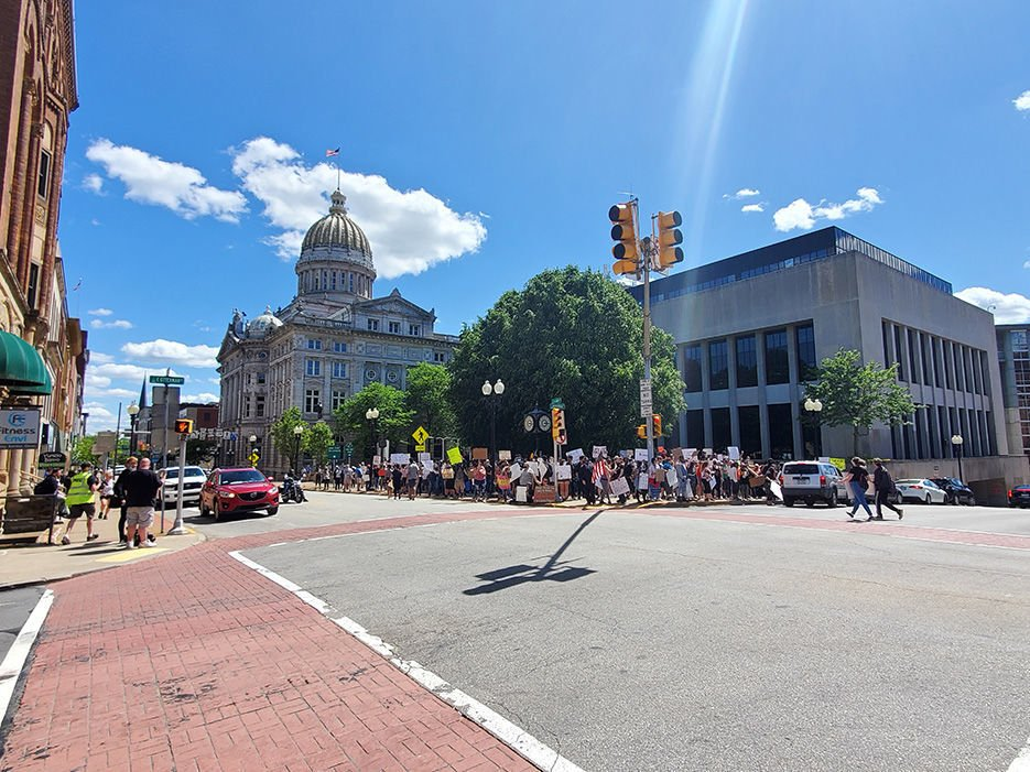 No incidents reported as organizers called for 'peaceful' protest in Greensburg