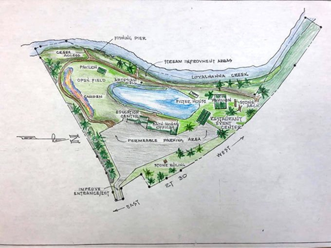 Community group sees natural swimming pool at center of Ligonier Beach redevelopment