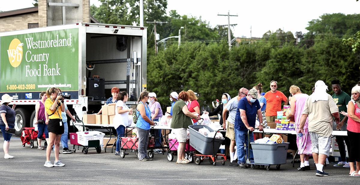 Steelers, SVC team up for food distribution in Unity Twp.