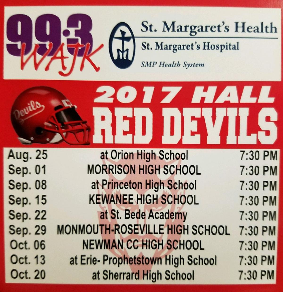 Hall Football Schedule Magnets