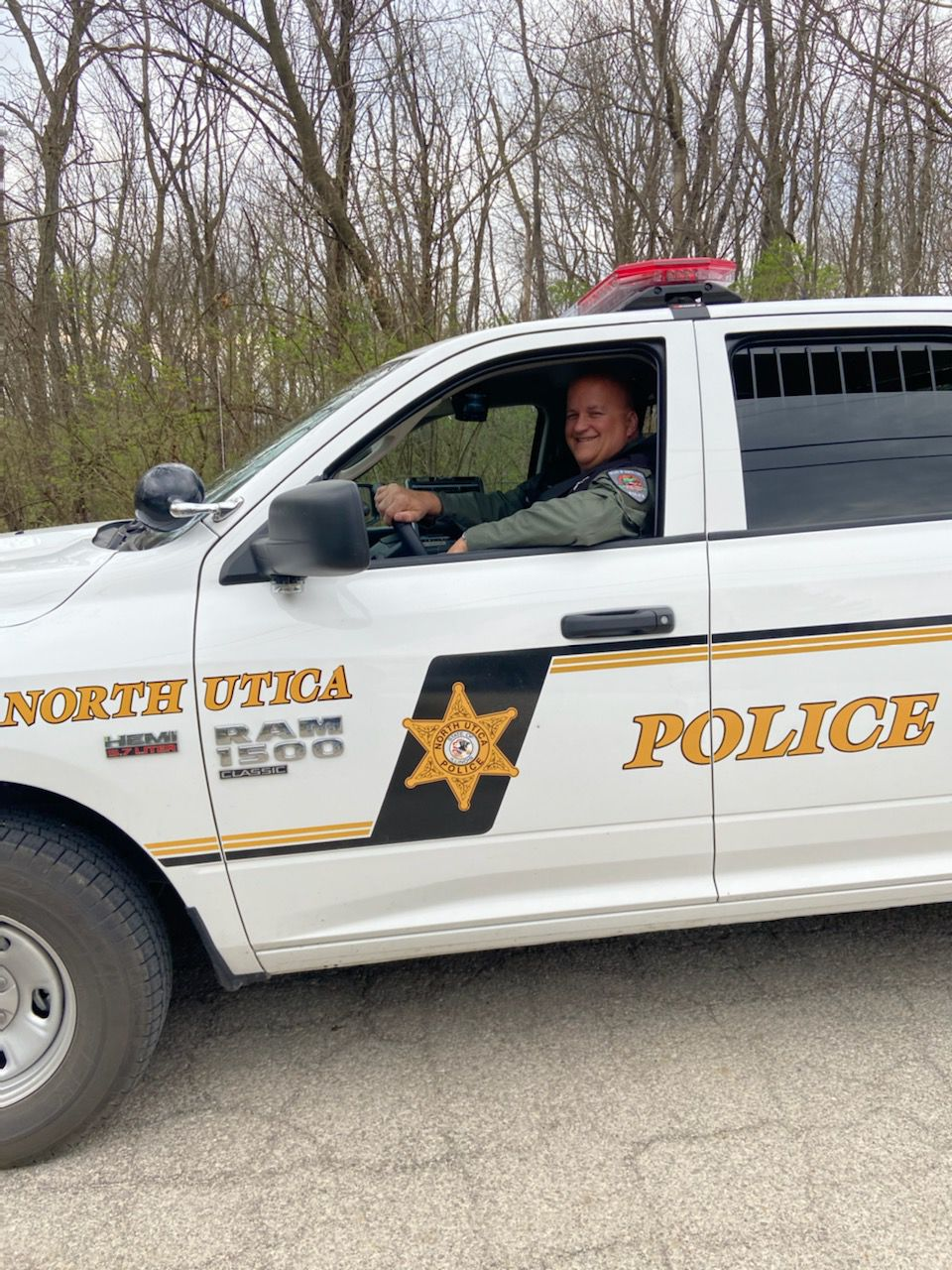 Mark making the rounds for the Utica PD