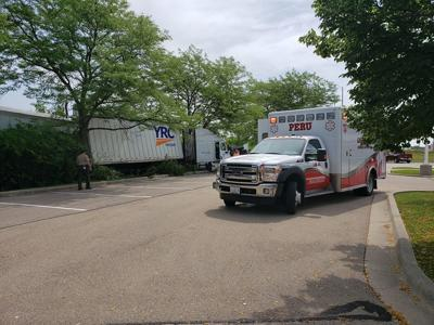 Semi Crashes Into Red Lobster Parking Lot