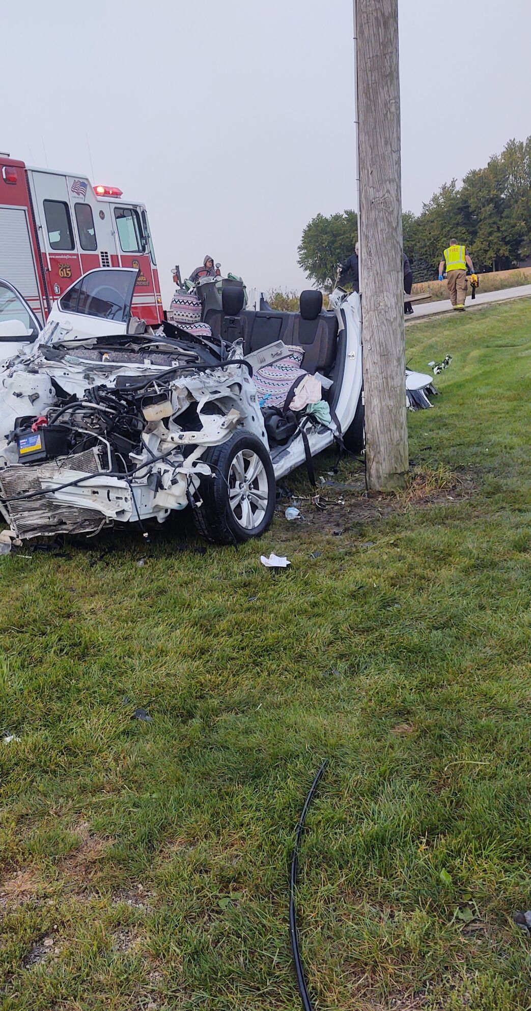 car involved in Tuesday morning collision north of Mendota