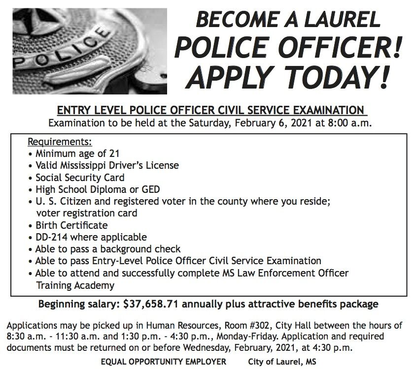 Become a Police Officer, APPLY today!